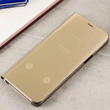 Чехол Clear View Standing Cover (Зеркальный) для Samsung S8+ (G955)  Золото