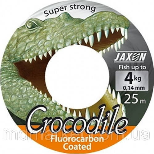 Леска Jaxon Crocodile Fluorocarbon Coated 25м 0,16