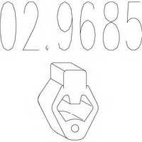Резиновый элемент крепления выхлопной системы MTS 029685 на VOLVO C30
