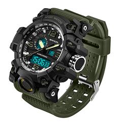 Мужские спортивные часы Sanda 742 Army green диам 54 мм
