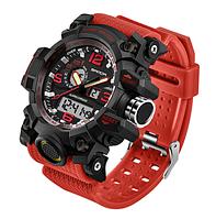 Мужские спортивные часы Sanda 2017 Relogio Masculino 742 Red диам 54 мм (уценка)