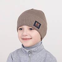 Однотонная весенняя шапка для мальчика - Арт 0613