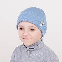 Шапка с отворотом для мальчика от производителя - Арт 0550