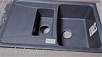 Гранитная кухонная мойка Plados Aros 15 (44 black metallik), фото 1