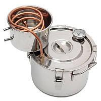 Honana 2GAL/8L Copper Moonshine Ethanol Alcohol Water Distiller Stainless Boiler Kitchen Brewing Tool
