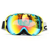 Мотоцикл Professional Очки Анти Fog UV Dual Объектив Спортивные лыжные очки для сноуборда