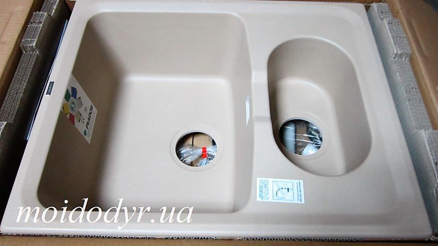 Мойка кухонная гранитная Plados Harmony LV/1 615x500 (Rosa) 45 met. biege