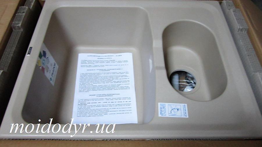 Мойка кухонная гранитная Plados Harmony LV/1 615x500 (Rosa) sahara 55