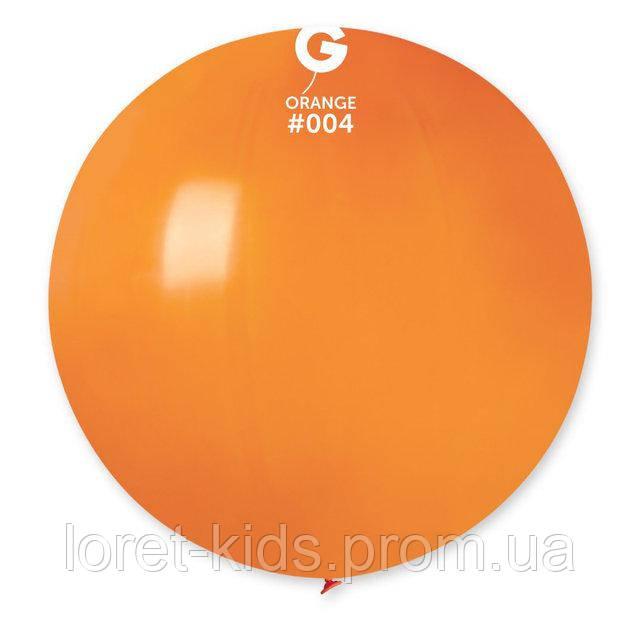 """Шар сюрприз оранжевый 31"""" (80 см). Шарики воздушные гиганты Gemar"""