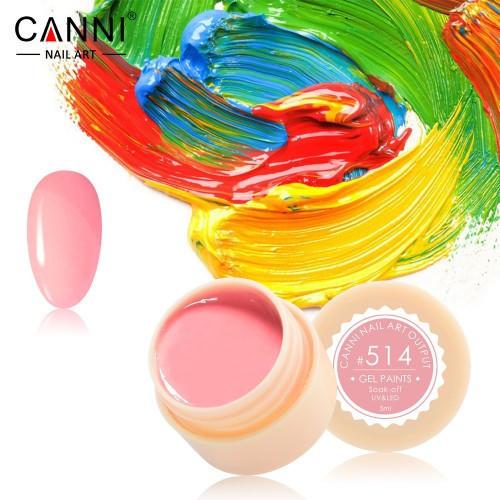 Гель-краска CANNI 514 неоновая розовая