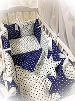 Набор постельного в кроватку для новорожденых Бонна подушки.