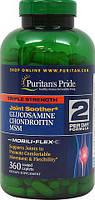 Хондропротектор, глюкозамин хондроитин мсм, Puritan's Pride Glucosamine Chondroitin MSM (360 таб.)