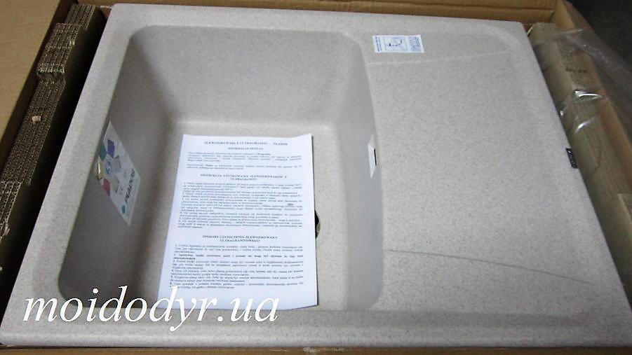 Гранитная кухонная мойка Plados Roxana HR6150 (94 бежевый)
