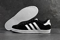 Кроссовки мужские Adidas Gazelle SD-4224 Материал замш. Черные с белым