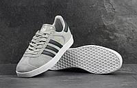 Кроссовки мужские Adidas Gazelle SD-4219 Материал замш. Серые