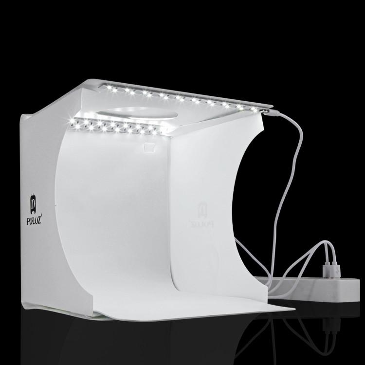 Світловий лайткуб (photobox) Puluz PU5022 з LED підсвічуванням для предметної макрозйомки 24*23*22 см (SUN0116) - фото 2