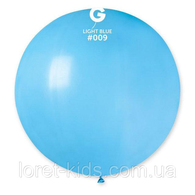 """Шар сюрприз голубой 31"""" (80 см). Шарики воздушные гиганты Gemar"""