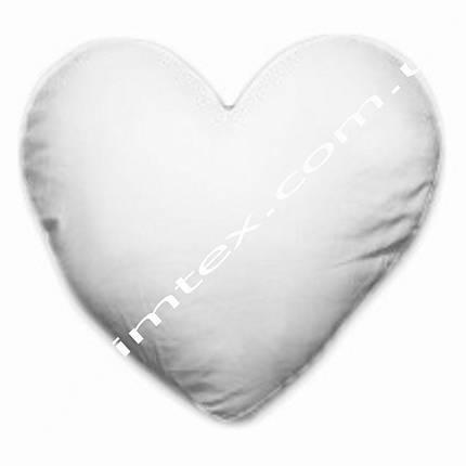 Подушка плюшевая, натуральный наполнитель, для сублимации, подушка в форме сердца, фото 2