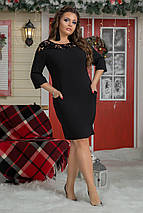 """Силуэтное нарядное платье """"Heather"""" с карманами и кокеткой (большие размеры), фото 3"""
