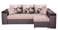 Угловой диван Робин с пуфом и ящиками в подлокотниках, фото 1