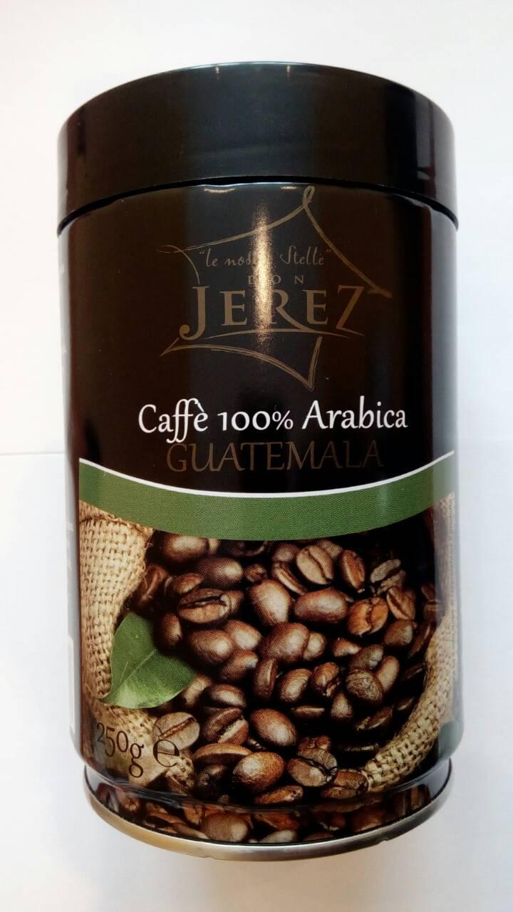 Молотый кофе Don Jerez 100% Arabica Guatemala Ж/Б250 гр