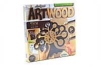 Набор для креативного творчества Danko toys ArtWood. Настенные часы LBZ-01-04