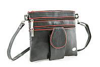 Плоская сумочка на длинном ремешке. Натуральная кожа.