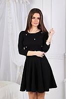 Платье с жемчужными бусинками женское норма МАЖ019