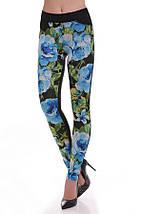 Женские лосиныс цветочным принтом спереди(Colored art), фото 3