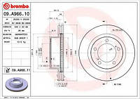 Тормозной диск BREMBO 09A96610 на LEXUS LX (URJ201)