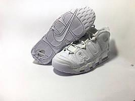Мужские кроссовки  Nike Air More Uptempo White (Реплика)