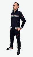 Мужской синий трикотажный спортивный костюм Nike с прямыми штанами (Реплика)