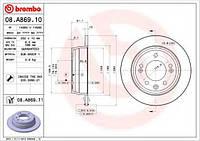 Тормозной диск BREMBO 08A86910 на KIA CEE'D SW (ED)