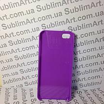 Чехол для 2D сублимации пластиковый Iphone 5/5S фиолетовый , фото 3