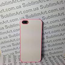 Чехол для 2D сублимации пластиковый Iphone 5/5S розовый , фото 3