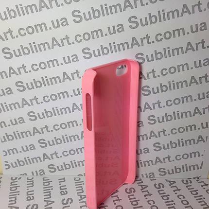 Чехол для 2D сублимации пластиковый Iphone 5/5S розовый , фото 2