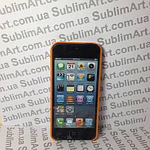 Чехол для 2D сублимации пластиковый Iphone 5/5S оранжевый , фото 2