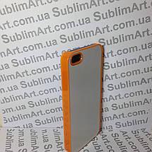 Чехол для 2D сублимации пластиковый Iphone 5/5S оранжевый , фото 3
