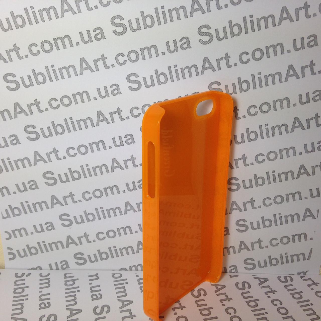 Чехол для 2D сублимации пластиковый Iphone 5/5S оранжевый