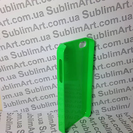 Чехол для 2D сублимации пластиковый Iphone 5/5S салатовый, фото 2