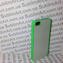 Чехол для 2D сублимации пластиковый Iphone 5/5S салатовый, фото 3