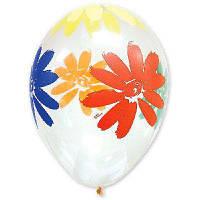 """Воздушные шары Ромашки кристалл 14"""" (35 см), 25 штук в упаковке"""