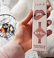 Набор помада и карандаш для губ Wibo Lovely K-lips Matte Liquid - Candy Shop
