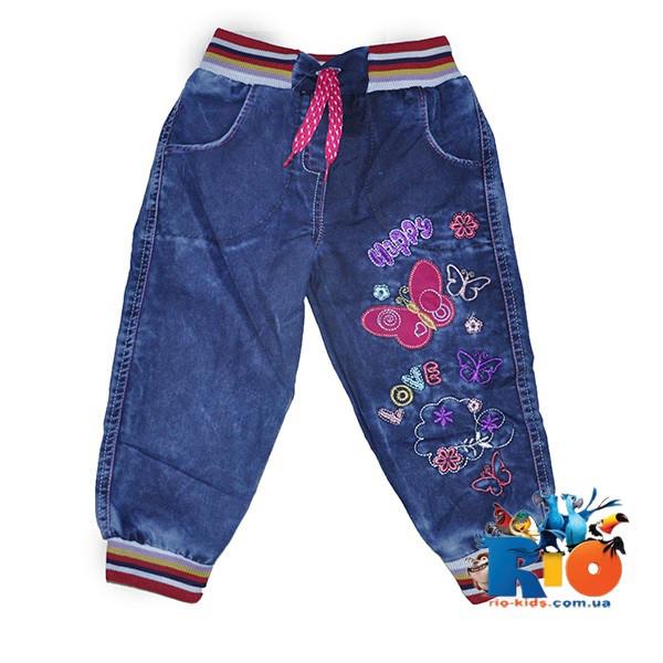 """Детские джинсы """"Nikido"""" с вышивкой, для девочек 3-7 лет, 5 ед в пачке"""