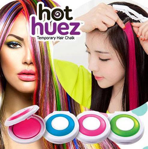 Мгновенная временная краска цветная пудра (мелки) для волос Hot Huez (Хот Хуез) - фото 1