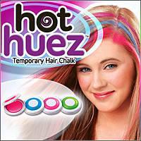 Мгновенная временная краска цветная пудра (мелки) для волос Hot Huez (Хот Хуез) - фото 4