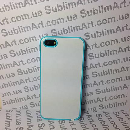 Чехол для 2D сублимации пластиковый Iphone 5/5S голубой, фото 2