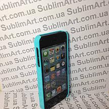Чехол для 2D сублимации пластиковый Iphone 5/5S голубой, фото 3