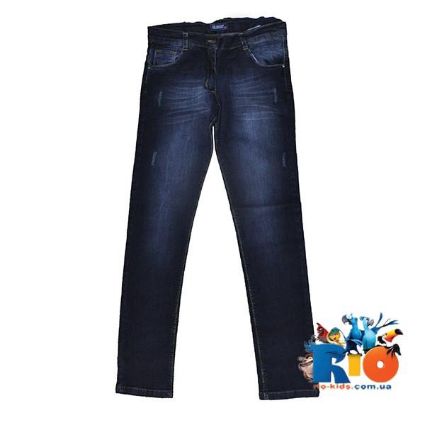 """Детские джинсы """"Elaysa"""" с потертостями , для девочек 13-16 лет, 4 ед в пачке"""