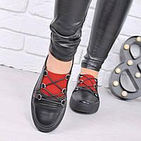 Кроссовки женские черные КОЖА , женская обувь